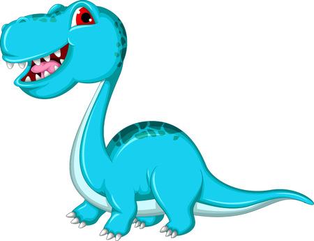 funny Brontosaurus dinosaur Vector