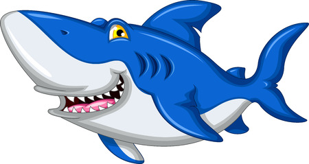 kill: shark cartoon smiling