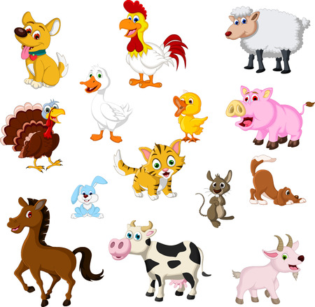 farm animal cartoon collection Vector