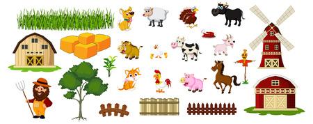 farm animal and farm tool for you design Vector