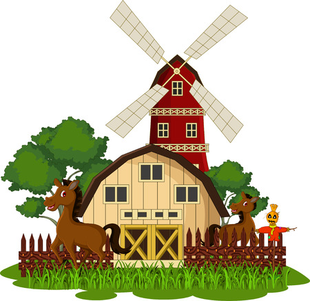 illustration of horse at the farm Vector