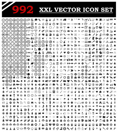 illustration of 992 icon set for your design  Vectores