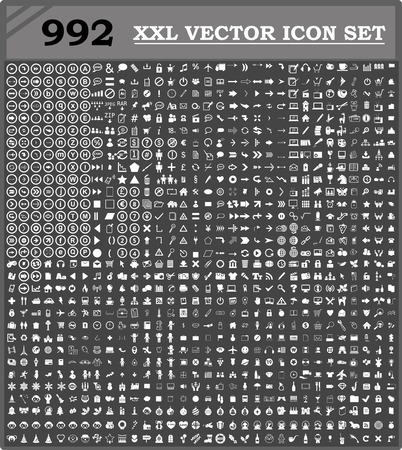 cart icon: 992 icon set vector for you design