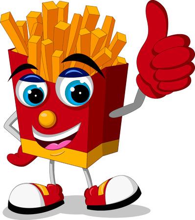 fried potatoes cartoon thumb up