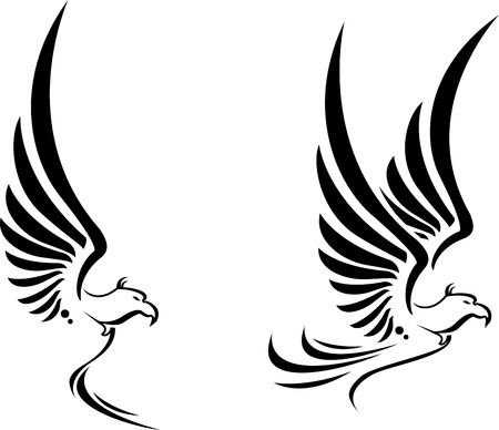 Flying Eagle tattoo for you design Vector
