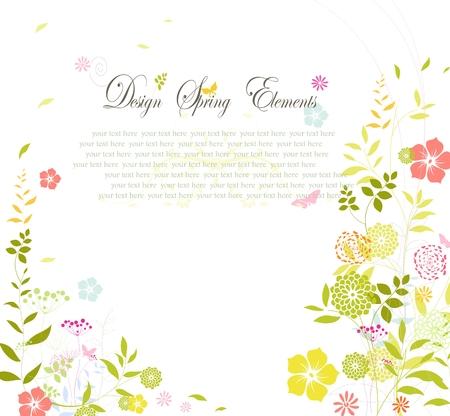 당신이 디자인을위한 꽃으로 봄 배경
