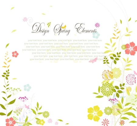 Flower spring background for you design