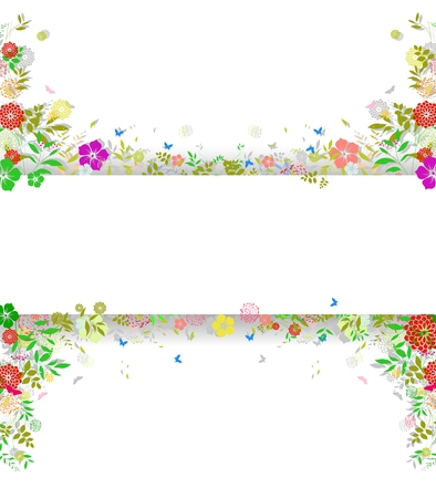 Decoration of Flower spring background with space for text
