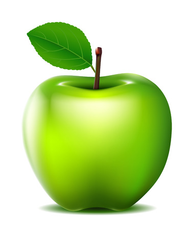 groene appel vector voor u ontwerpen