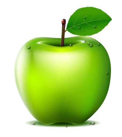 granny smith apple: Fresh Green apple