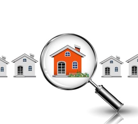 Orange House search Vector