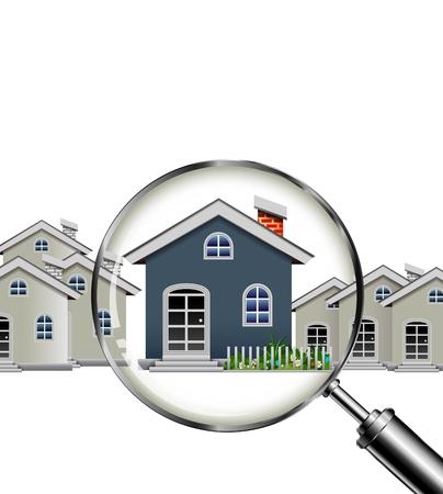 あなたの設計のための家の検索  イラスト・ベクター素材