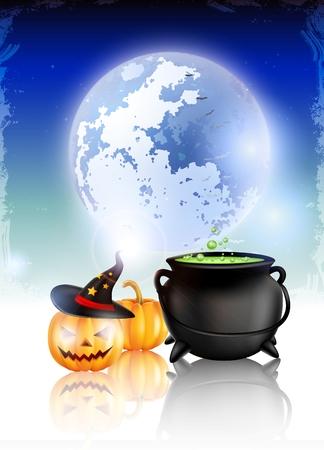 timid: Halloween night background