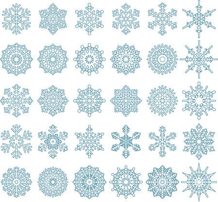 Snowflake Vectors for you design Vector