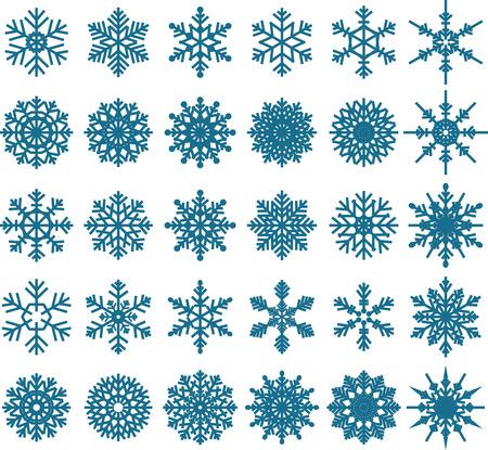 copo de nieve: Copo de nieve de vectores para que el dise�o