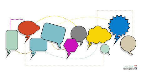 interconnected: Colorful Speech Bubbles are interconnected