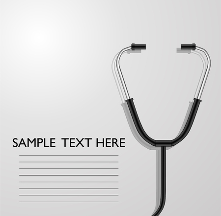 listening to heartbeat: background with stethoscope for you design Illustration