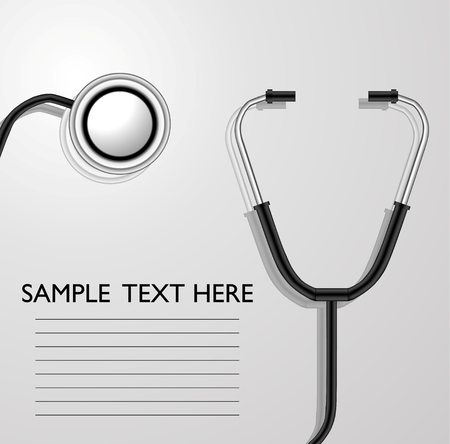 listening to heartbeat: stethoscope for you design