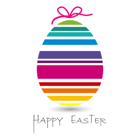 colored egg: happy easter with colored egg
