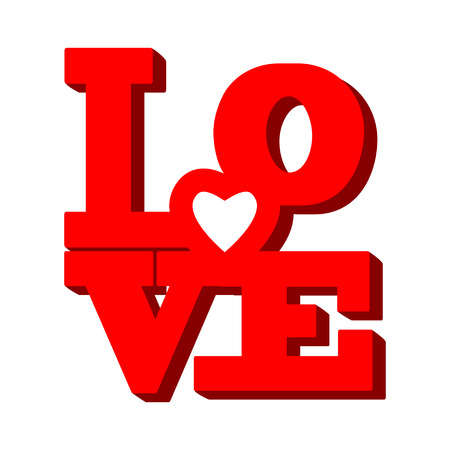 love hearts: LOVE Font Type for you design Illustration