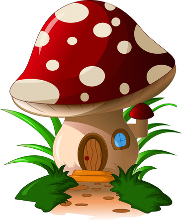 button mushroom: mushroom house