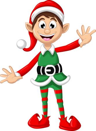 Christmas elf posing