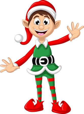 elves: Christmas elf posing