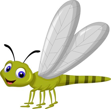 mosca caricatura: Dragonfly dibujos animados