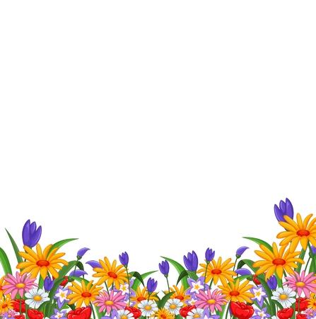 bouquet fleur: jardin de fleurs