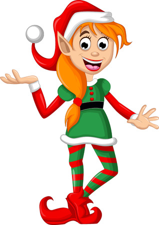 elves: Cute Christmas elf posing