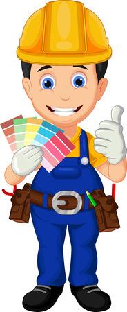 cartoon painter: Cartoon painter thumb up