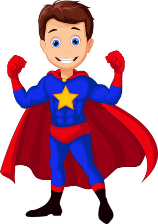 superhero cartoon for you design Ilustrace