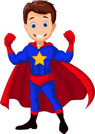 caricature: superhero cartoon for you design Illustration
