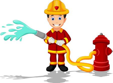 bombero: bomberos de dibujos animados Vectores