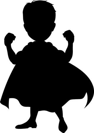 caricatura: silueta de superh�roes para que el dise�o