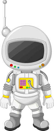 space suit: Cartoon Astronaut Illustration