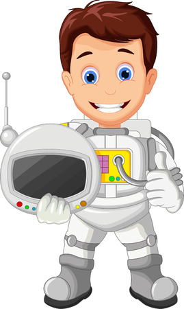 astronauts: Cartoon Astronaut for you design Illustration
