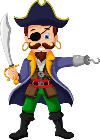 captain cap: Cartoon pirate