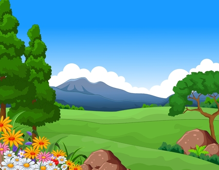 non urban scene: beautiful summer landscape for you design Illustration