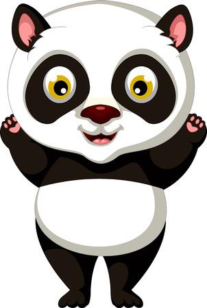 one panda: happy panda cartoon posing
