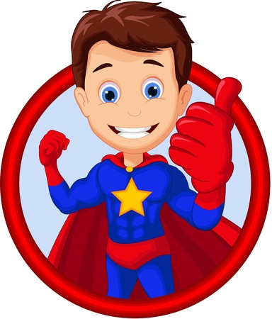 superhero cartoon for you design Vectores