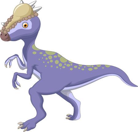 Dinosaur Stegoceras cartoon 일러스트