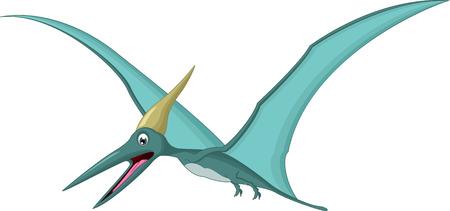 pterodactyl: Happy pterodactyl cartoon