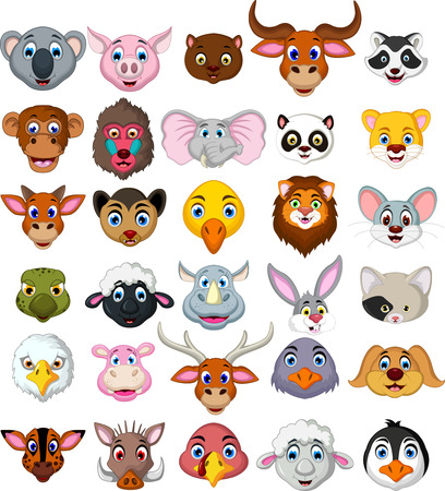 big animal head cartoon collection