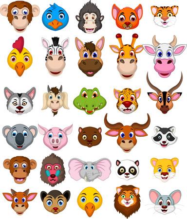 animal head: big animal head cartoon collection