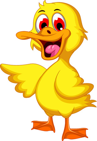 squeak: Cute baby duck cartoon Illustration