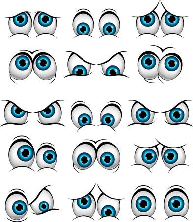 caras graciosas: Dibujos de caras con diferentes expresiones para dise�ar