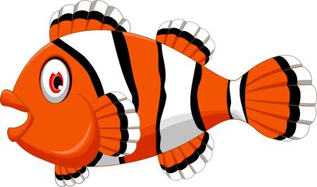 clown fish: cute clown fish cartoon