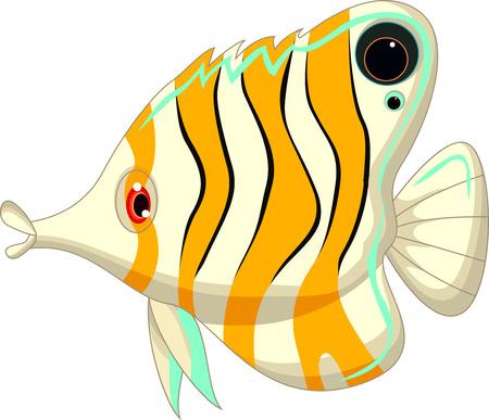 cute cartoon angel fish Vector