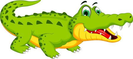 crocodile: Cartoon Krokodil posing